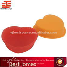 Factory wholesale cooking mold, silicone heart shape cake molds