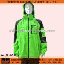 Mens nylon waterproof windproof hoodie windbreaker jacket with custom design