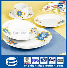 20 pcs fine home decor dinning porcelain sets round dishes porcelain dinnerware