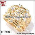 Encanto de plata& joyería de latón apilables banda baratos anillos para las mujeres