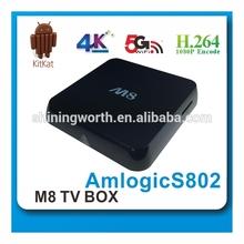 quad core amlogic S802 android tv box