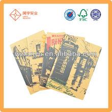 b5 kraft cheap paper notebooks