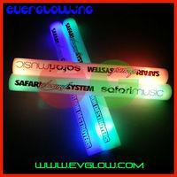 Custom logo 180pcs/lot 4*40cm 4*40cm 7 modes led foam glow stick