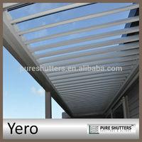 YERO motorized opening Aluminum louver roof