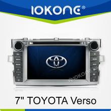 """factory 7"""" HD Touch screen 2 din toyota verso car dvd gps TMC, camera, mic, dvb-t"""