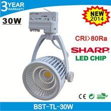 Factory price SHARP 3 phase 30w led pendant track lights