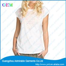 hot sell white t shirts for women popular t shit design