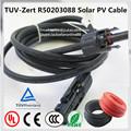 Pv1-f solar pv cable 2.5/4.0/6.0mm2 solar cable de extensión