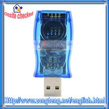 USB Sim Card Reader / Writer / Copy / Cloner / Backup GSM / CDMA Blue