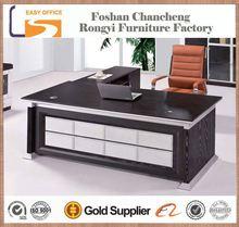OEM 2014 high quality cheap price black office executive wood veneer office desk