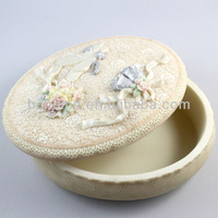 2015 Lovely Flower Resin Luxury Jewelry Box With Superior Performance