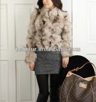 European fashion style lady's fox leg fur coat 14F66