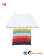 Hawaii style colorful printed fashion lady wear tshirts woman clothes t-shirt
