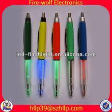 Low Price Fashionable Universal Colourful Led Flashing ball pen manufacturer