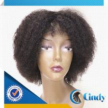 2014 top selling African American wig afro kinky human hair wig