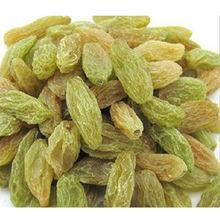 Xinjiang seedless green raisin in dried fruit