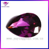 beautiful 10*14mm pear shape amethyst CZ stone