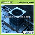 Comercial de la fuente de aire bomba de calor 22.3kw alemán de calidad ce aprobación de aire fuente de calefacción bomba de calor