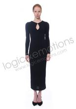 black/navy long dress