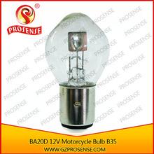 Motorcycle Halogen Bulb B35 BA20D 12V 35/35W