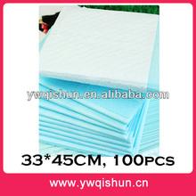 Qishun Wholesale 33x45CM 100pcs Clean Pet Pee Pad For Dog Training