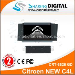 Hot sale 2 din 7 inch touch screen Citroen NEW C4 car dvd player