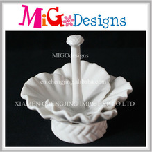 White Color Flower Design Decor Trays For Jewelry