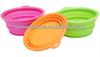 unbreakable folding silicon dog bowls