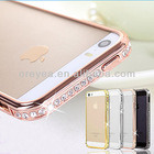 New Arrival Screwless Bling Crystal Diamond Bumper Metal Case For Iphone 5, For iphone5s diamond phone bumper case