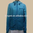 Women Long Sleeve Zipper Front Fly Hood Collar Gradient Blue Casual Jacket Sports wear women autumn jacket