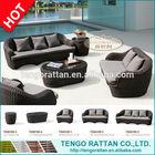 Cheap Outdoor Wicker Furniture Rattan Sofa (TG0070S)