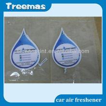 customized logo hanging paper car air freshener