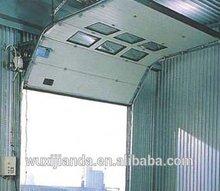 industrial fire rated sectional overhead door with sensor