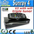 Sunray sr4 V2 sim 2.20 carte Linux décodeur sunray4 hd se sr4 + Wifi Sunray 800 hd se triple tuner Rev E V2 décodeur Samsat
