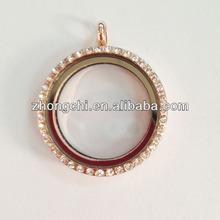 High quality jewelry rhinestone glass memory lockets