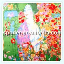 Latest fashion art painting novel silk scarves