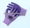 13g lt. Nylon roxa liner1/2 roxo de espuma de látex espuma revestido de trabalho de segurança luva de látex molde