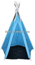 as crianças brincam de lona tenda indiana campingteepee de madeira
