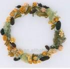 2014 hot sale handmade artificial flower head wreaths