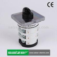 Salzer aprobado por la ce sab25 1-0-2 3 posición del interruptor giratorio