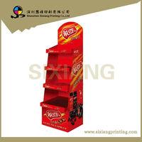High quality sugus cardboard display shelves