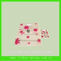 popular custom made printing die cut plastic shopping bag