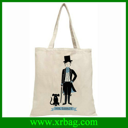 Hand Cotton canvas recyclable shopping tote bags