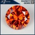 Corte redondo brillante de color naranja sintético cúbico zrconia loose piedra de la cz