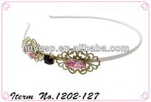 hot sale metal crystal bridal headband for women