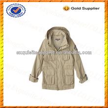 Custom Trend Kids Military Snap Button Jacket/Docks Jacket Wholesale
