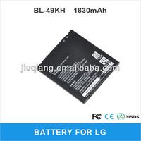 1830mAh BL-49KH Battery For LG P930,SU640,LU6200