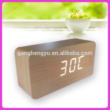 Antique desk clock ,mdf clock ,wooden alarm clock