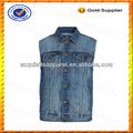 Custom peso leve mens colete jeans atacado/colete jeans para homens atacado