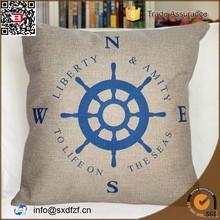Custom printing car sofa home decorative linen cushion compass printed pillow Cushion Cover